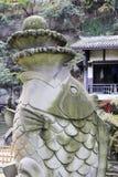 Carp statue at huguanghuiguan, chongqing Stock Photos