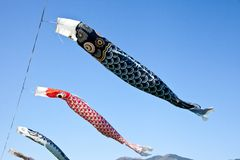 Carp streamer. This is a picture of carp streamers is decorated on the day of children Stock Images