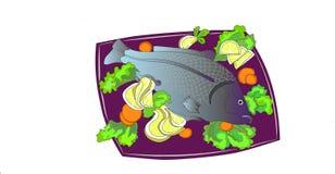 Carp-traditional Christmas food. Carp-fried freshwater fish for Christmas Stock Photography