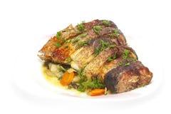 Carpa cozida com vegetais Imagem de Stock Royalty Free