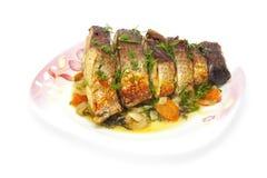 Carpa cozida no forno Imagens de Stock Royalty Free
