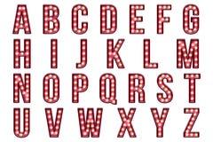 Carpa del burlesque del alfabeto del libro de recuerdos de Digitaces Foto de archivo