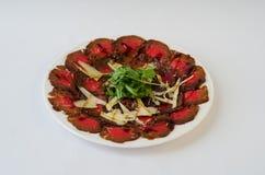 Carpaccio του βόειου κρέατος Στοκ Εικόνες