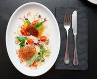 Carpaccio χταποδιών στο πιάτο Στοκ Φωτογραφίες