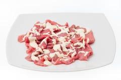 Carpaccio говядины с сливк Стоковое Изображение
