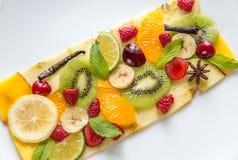 Carpaccio плодоовощ и ягоды Стоковые Фотографии RF