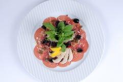 Carpaccio in aglio, parmigiano Fotografie Stock Libere da Diritti