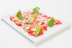 Carpaccio appetizer Royalty Free Stock Image