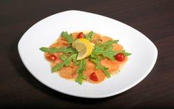 Carpaccio avec des saumons Images stock