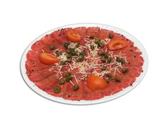 Carpaccio of beef Royalty Free Stock Photo
