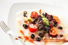 Carpaccio cod salad Royalty Free Stock Image