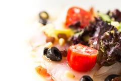 Carpaccio cod salad Stock Images