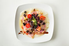 Carpaccio cod salad Royalty Free Stock Images