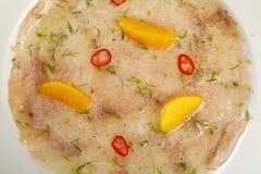 Carpaccio de pescados Fotografía de archivo