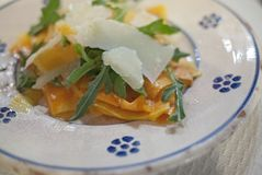 Carpaccio de potiron avec le parmesan Image stock