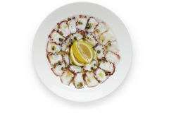 Carpaccio de poulpe Photo libre de droits