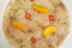 Carpaccio des poissons Photographie stock