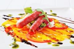 Carpaccio dish Royalty Free Stock Photography