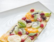 Carpaccio do fruto e da baga Imagens de Stock Royalty Free