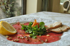 Carpaccio frais Photos stock