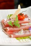 Carpaccio of fresh tuna Royalty Free Stock Images