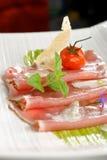 Carpaccio of fresh tuna Royalty Free Stock Images