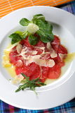 Carpaccio Made From Sirloin Royalty Free Stock Photos