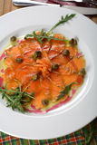 Carpaccio made from kipper Royalty Free Stock Image