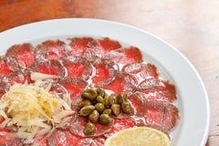 carpaccio mięso obraz royalty free