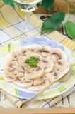 Carpaccio with mushrooms and spices Stock Photos