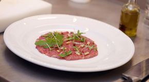Carpaccio with rucola Royalty Free Stock Photography