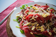 Carpaccio Salad. On a plate stock photo