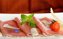 Carpaccio of tuna Royalty Free Stock Images