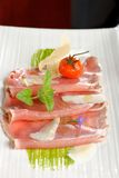 Carpaccio of tuna Stock Photos