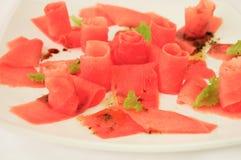Carpaccio van de tonijn Royalty-vrije Stock Afbeeldingen
