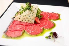 Carpaccio van het rundvlees Stock Fotografie
