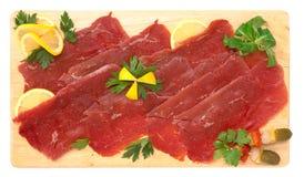 Carpaccio van rundvlees Stock Afbeelding