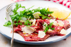Carpaccio from veal. Royalty Free Stock Photo