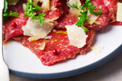 Carpaccio from veal. Stock Photos