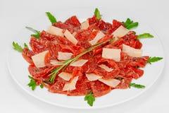 Carpaccio z Parmezańskim serem Zdjęcie Stock
