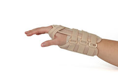 Carpal Tunnel Syndrome Brace. Royalty Free Stock Image