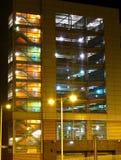 Carpark bij nacht Stock Foto
