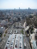 Carpark in the central business district of Osaka, including buildings and roads Stock Photos