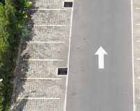 Carpark concrete outdoor. Stock Image
