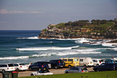 Carpark de plage de Bondi Photos stock