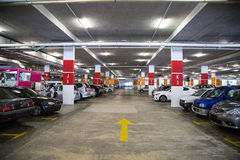 Carpark Generic  interior parking station car Royalty Free Stock Photography