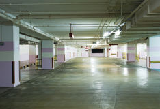 Carpark Interior Royalty Free Stock Photo