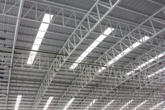 Carpark metal roof structure Stock Photo