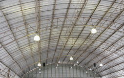 Carpark metal roof structure, steel industrial building Royalty Free Stock Photo