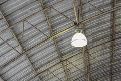 Carpark metal roof structure, steel industrial building Royalty Free Stock Image